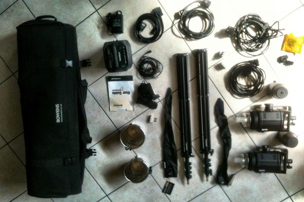 Vendo Luci Da Studio - Bowens Gemini 400/400 Travelpak Kit