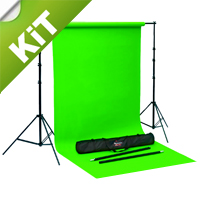 Fondale Greenscreen Chromakey portatile (KIT a noleggio)