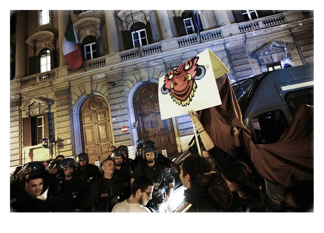 IMG 9502Pre Manifestation 13th October 2011, Rome