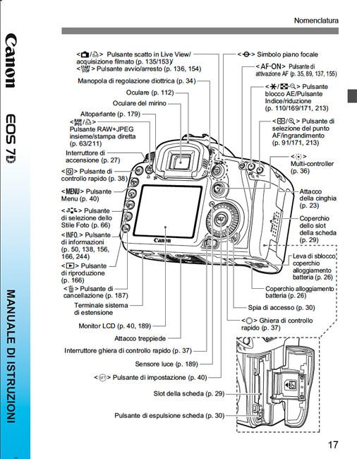 Canon Eos 7d Manuale Di Istruzioni It Manuali D Uso E Libretti Di Istruzione Forum Di Fotografia Professionale